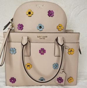 kate spade SET 3D FLOWERS BAG + MULTI CASE